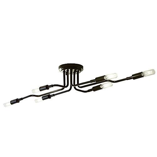 Luminaire multidirectional à 6 ampoules fixes avec ampoules à DEL