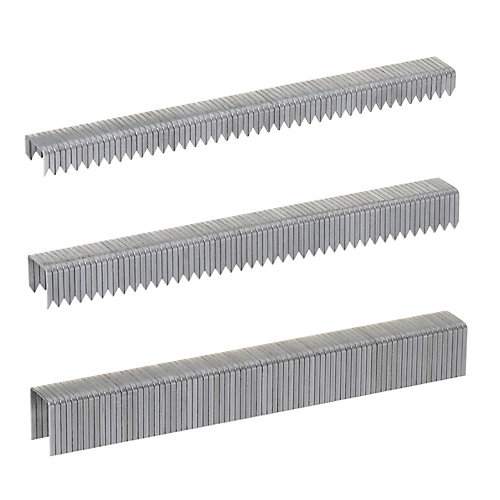 T50 1/4 inch x 3/8 inch x 1/2 inch Staple Multi-Pack - 1,875 ct