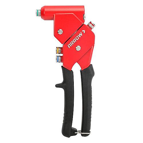 Trousse d'outil à riveter à tête pivotante à une main RT187SHK