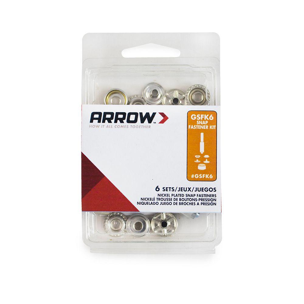 Arrow GSFK6 Snap Fastener Kit - 6 Sets