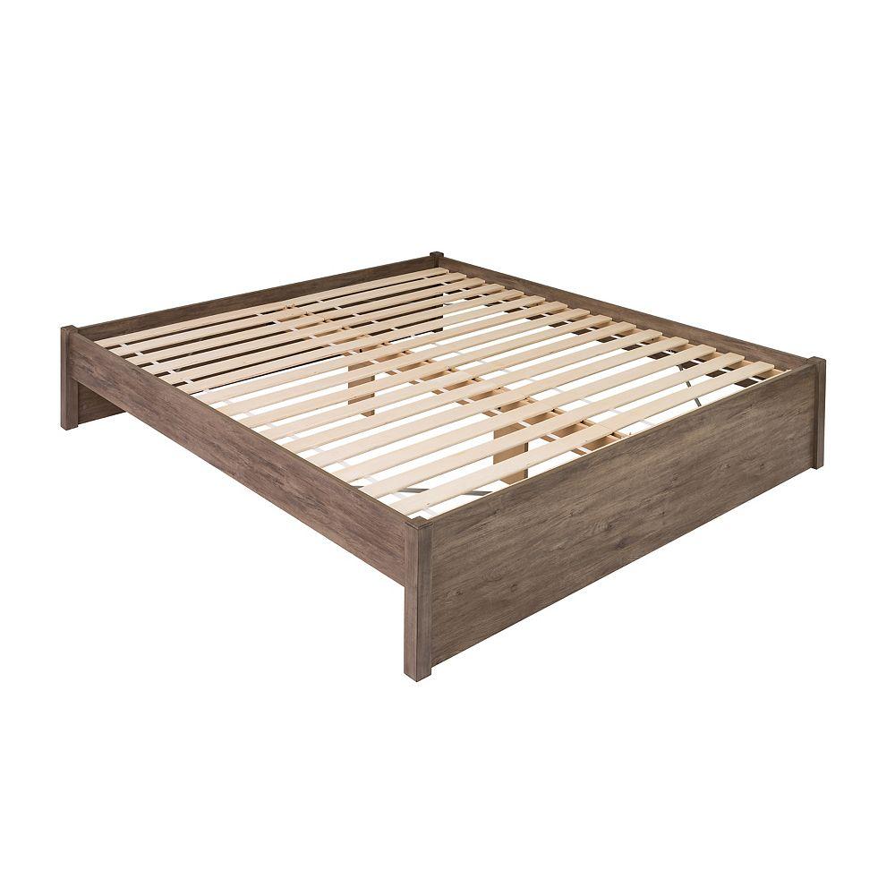 Prepac King Select 4-Post Platform Bed -  Drifted Gray