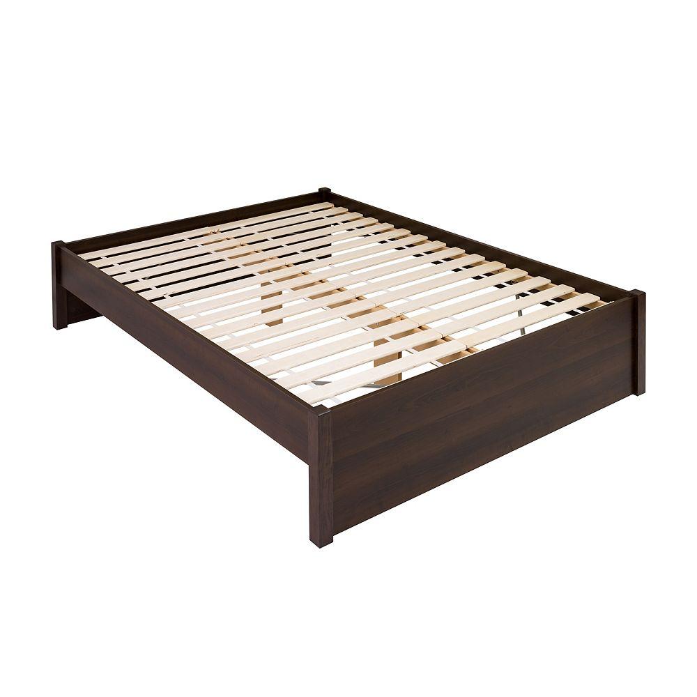 Prepac Base de grand lit plateforme à colonnes Select -  epsresso