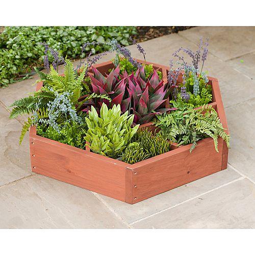 Planche de jardin en forme de roue