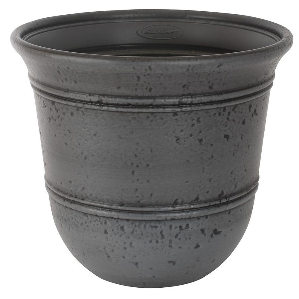Suncast Stoneycreek Decorative Planter, Grey