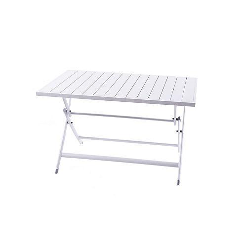 Brunch Aluminum Folding Table - White