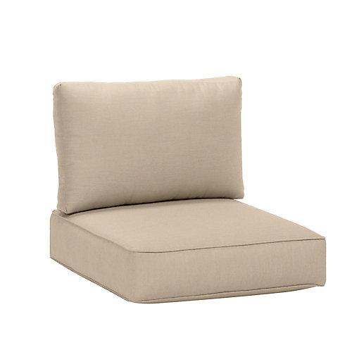 Coussin de jardin pour fauteuil sectionnel de milieu, Sunbrella beige antique, qualité commerciale