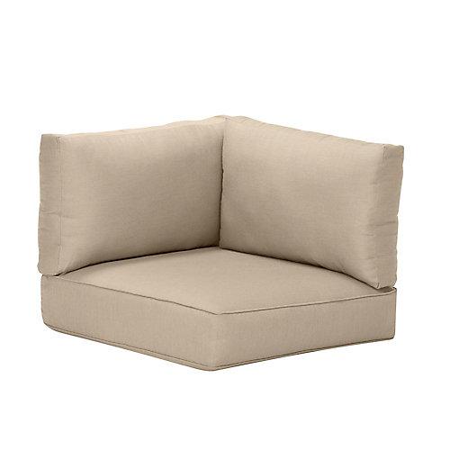 Coussin de jardin, toile Sunbrella beige antique, accoudoir gauche ou droit, ou pour fauteuil d'angle