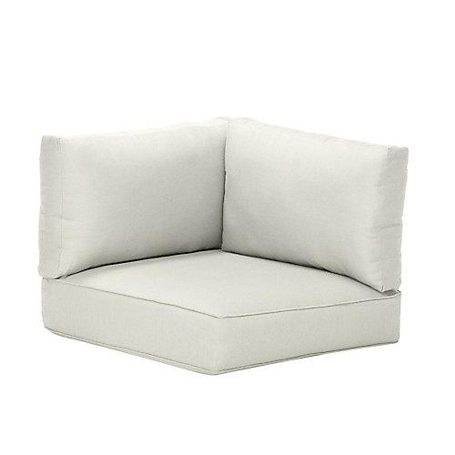Coussin de jardin, toile Sunbrella blanche, accoudoir gauche ou droit ou pour fauteuil d'angle