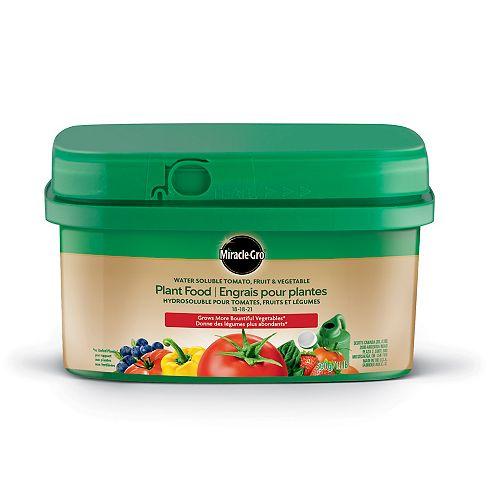 Miracle-Gro Engrais hydrosoluble pour tomates, fruits et légumes 18-18-21