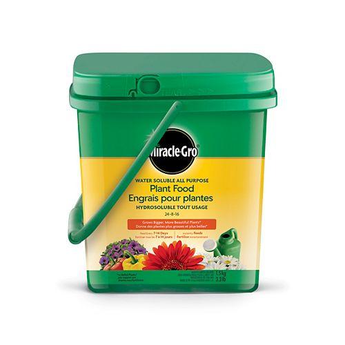 Miracle-Gro Engrais pour plantes hydrosoluble tout usage 24-8-16, 1,5kg