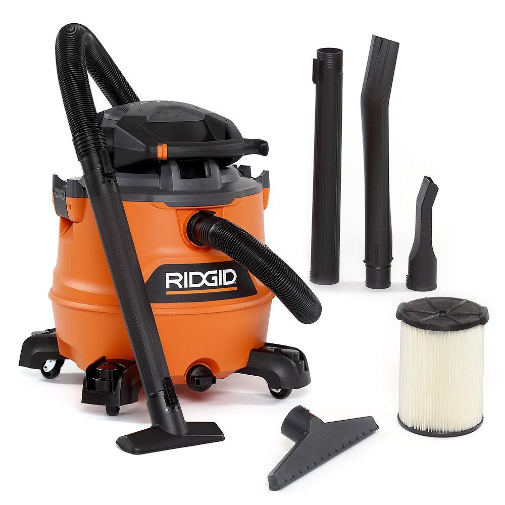 RIDGID Aspirateur sec/humide NXT de 60 litres / 16 gallons, 6,5 HP crête avec soufflante amovible