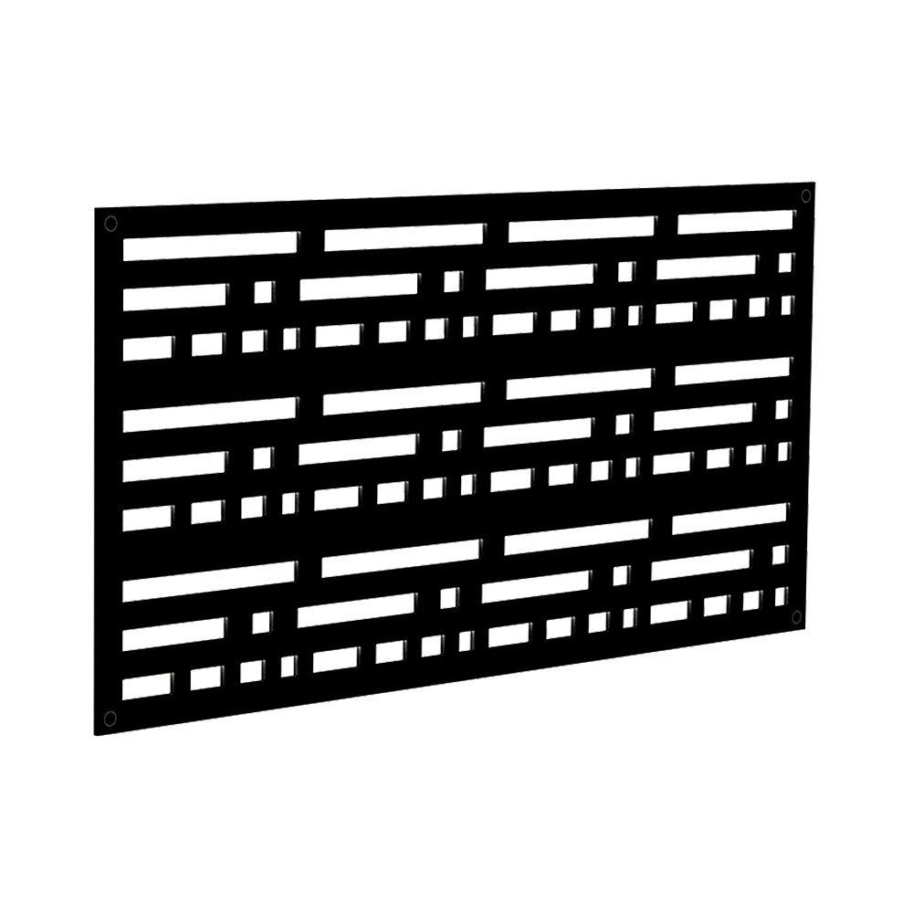 Barrette Morse 2 ft. x 4 ft. Decorative Screen Panel in Black
