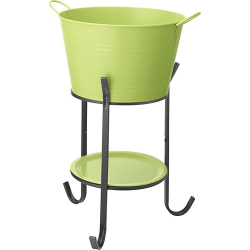 Party Tub Steel Drinks Bucket with Stand in Pear