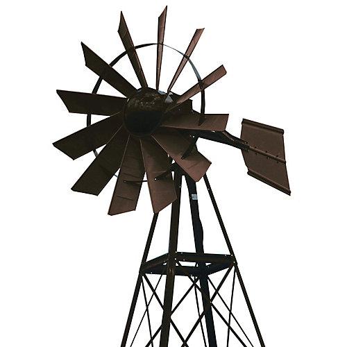 20 pi Moulin à vent d'aération enduit de poudre bronze