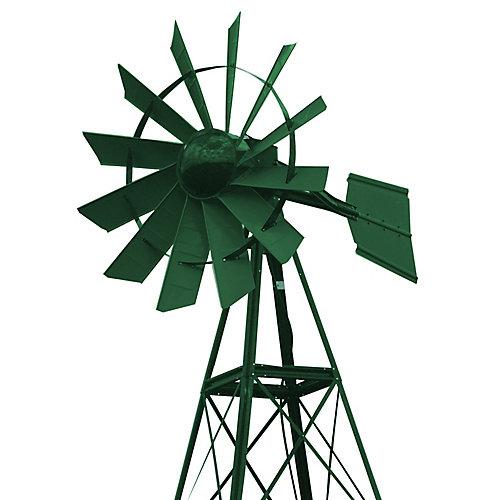 20 pi Moulin à vent d'aération enduit de poudre vert forêt
