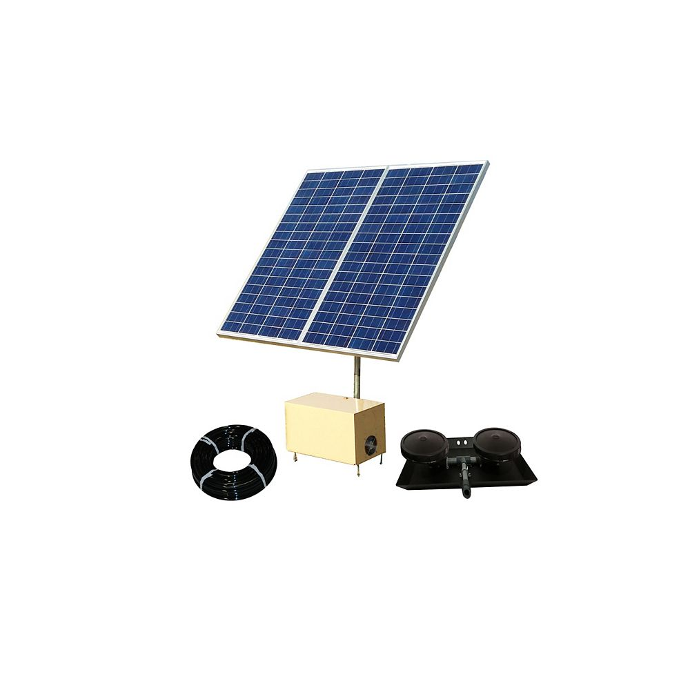 Outdoor Water Solutions Système AerMaster Direct Drive de Solar Pond Aerator 2