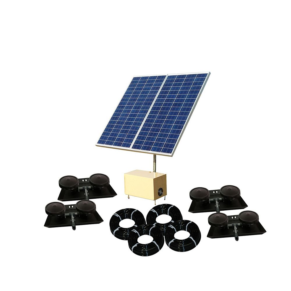 Outdoor Water Solutions Système AerMaster Direct Drive de Solar Pond Aerator 5