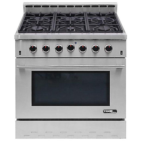 Entrée 36-inch 5.5 cu. ft. Professional Style Gas Range with Convection Oven in Stainless Steel