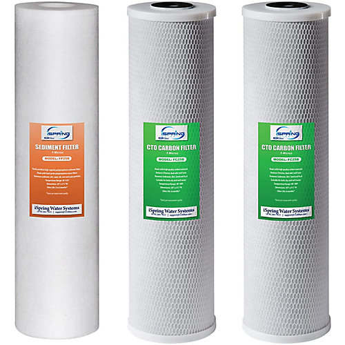 3-Stage 20 inch 3-Piece Big Blue Whole House Replacement Filter Pack