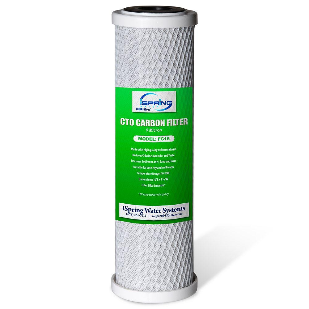 iSpring Cartouche filtrante iSpring FC15 5 Micron 10 po CTO Blocc de carbone , 9-3/4 po x 2-7/8 po