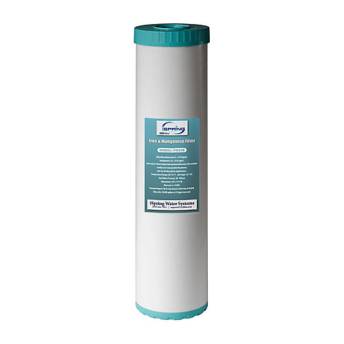 123 Filter Iron Manganese Reducing Replacement Water Filter, High Capacity 4.5inch x 20inch Big Blue