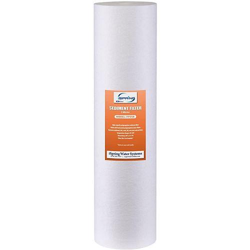 123Filtre 20 po x 4,5 po Cartouche de remplacement du filtre à eau Big Blue Sediment de 5 microns
