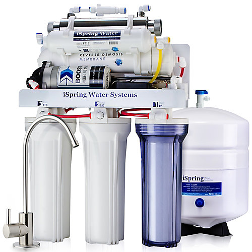 Système de filtration de l'eau potable par osmose inverse à 6 étages avec pompe et stérilisateur UV