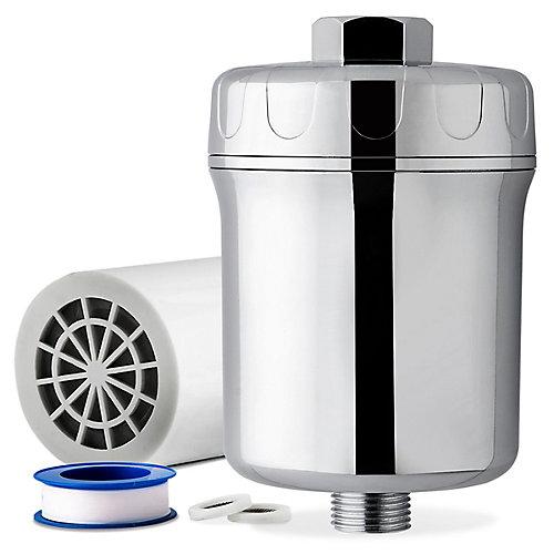 Pomme de douche à effets mult. et rendement élevé avec filtre contre minéraux lourds SF1W, blanc