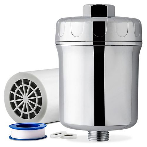 SF1S 15-Stage Never Clog High Output Universal Shower Filter with Replaceable Cartridge, Chrome
