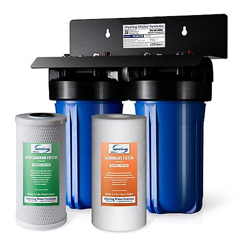 WGB21B Système de filtration à 2 étages avec 4,5 filtres à sédiments et à blocs de carbone  po X10  po