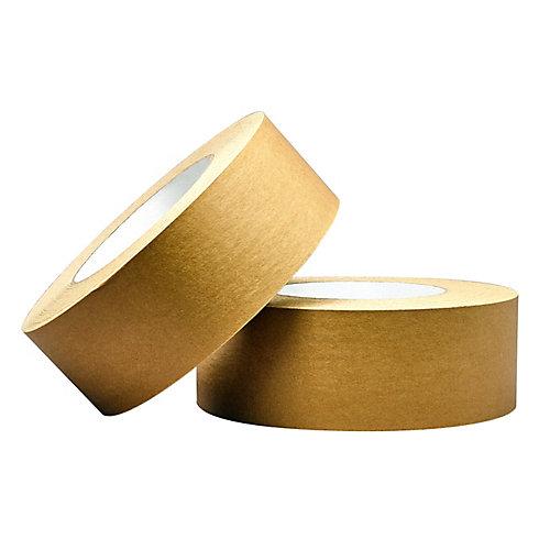 3 inch x 60 yd kraft flatback tape (2-Pack)