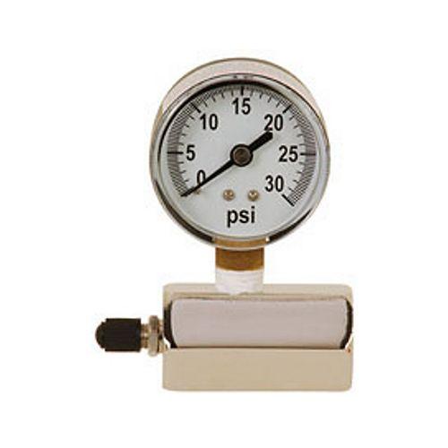 Manomètre de Sioux Chief: raccord de test de gaz 0-30 lb, (Raccord FIP ¾ po)