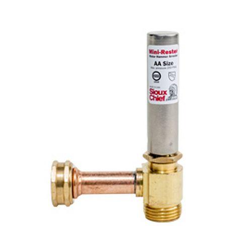 Water Hammer Arrester Tee by ¾ inch. FIP swivel x ¾ inch. MIP