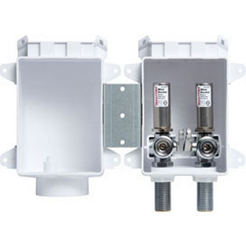 OxBox Washing Machine Outlet Box with Water Hammer Arresters by