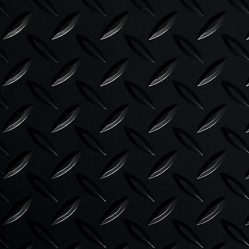 Diamond Tread 5 ft. x 10 ft. Midnight Black Commercial Grade Vinyl Garage Floor Cover and Protector