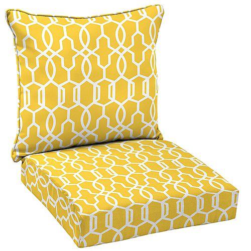 Vase Lattice 2-Piece Deep Seating Lounge Chair Cushion