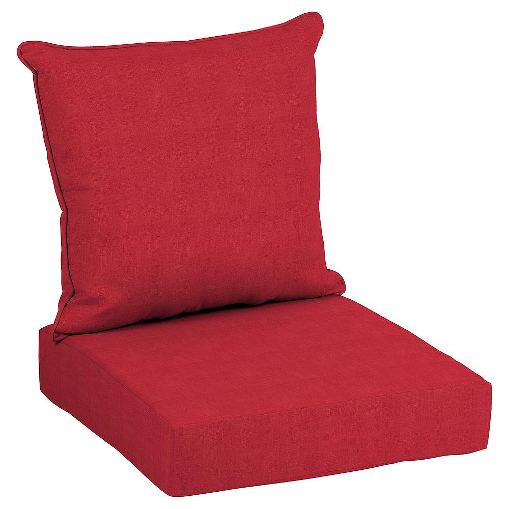 Hampton Bay CushionGuard Ruby 2-Piece Deep Seating Lounge Chair Cushion