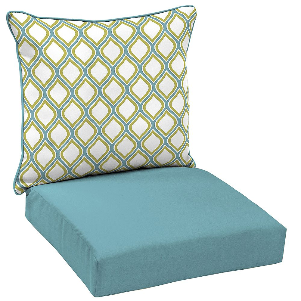Hampton Bay Porcelain & Pear 2-Piece Deep Seating Lounge Chair Cushion