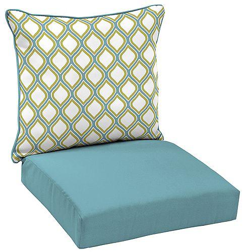 Porcelain & Pear 2-Piece Deep Seating Lounge Chair Cushion