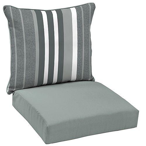 Petersburg Stripe 2-Piece Deep Seating Lounge Chair Cushion