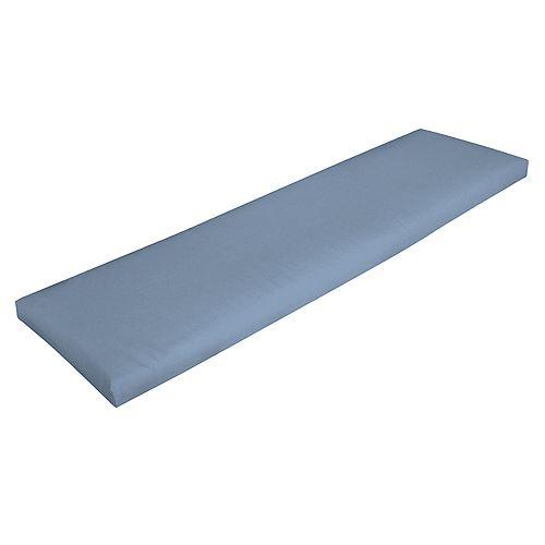 CushionGuard Washed Denim Bench Cushion