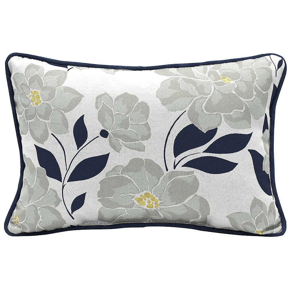 Hampton Bay Coussin lombaire décoratif de jardin, motif floral