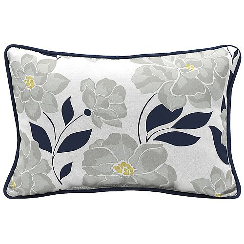 Coussin lombaire décoratif de jardin, motif floral