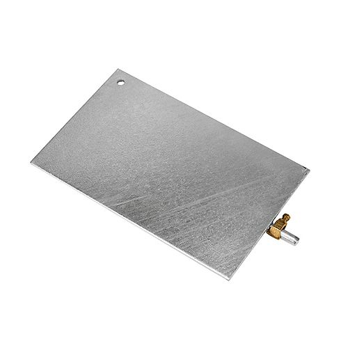 Galv.Ground Plate C/W Connector