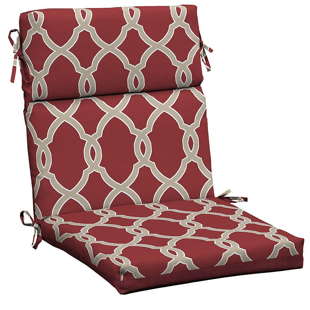 Hampton Bay Jeanette Trellis High Back Dining Chair Cushion