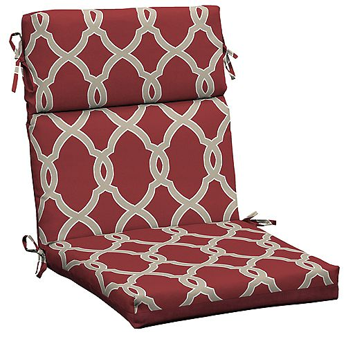 Jeanette Trellis High Back Patio Dining Chair Cushion