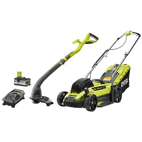 18V One+ 13-Inch Cordless Mower & Trimmer Kit