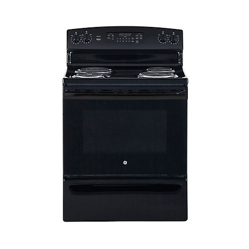 30-inch 5.0 cu. ft. Single Oven Electric Range with Self Cleaning in Black