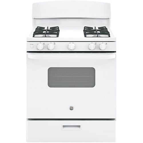 30-inch 4.8 cu. ft. Single Oven Gas Range with Manual Clean in White