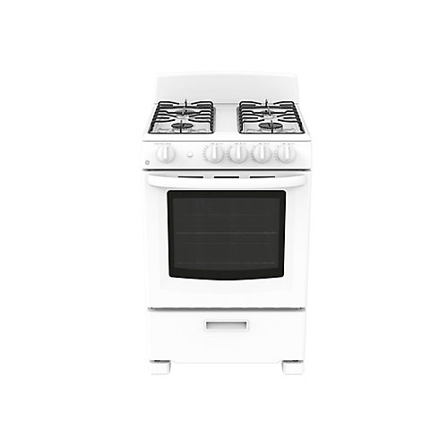 24-inch 2.9 cu. Ft. Single Oven Gas Range with Manual Cleaning in White